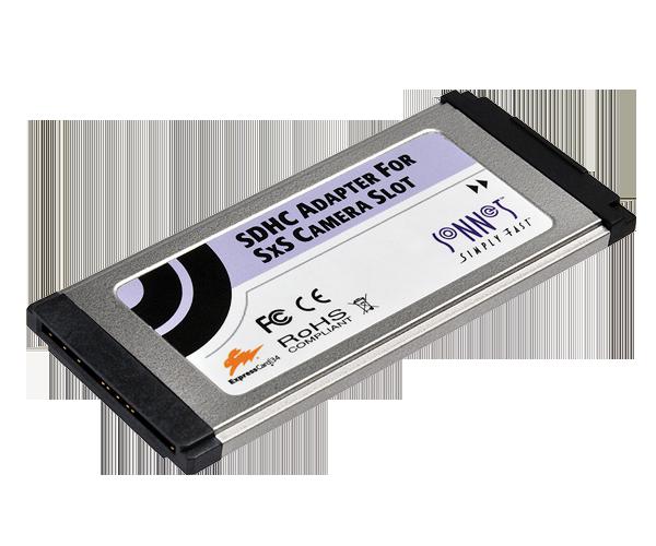 SDHC Adapter for SxS Camera Slot (ExpressCard Media Reader)