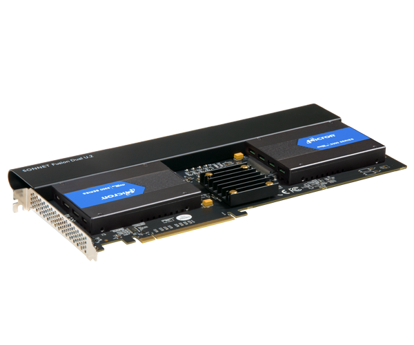 Fusion Dual U.2 SSD PCIe Card (Two U.2 NVMe SSD Connectors On a PCIe 3.0 x16 Card • Add Your Own U.2 SSDs)