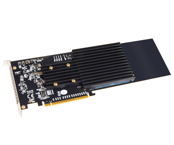Sonnet M.2 4x4 Silent PCIe Card (Four M.2 NVMe SSD Slots • Add your own SSDs)