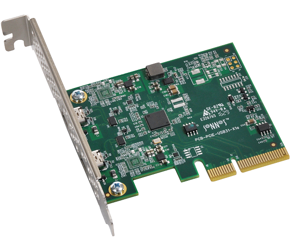 Allegro USB-C PCIe (USB 3.1 Gen 2 Card with 15W per Port)