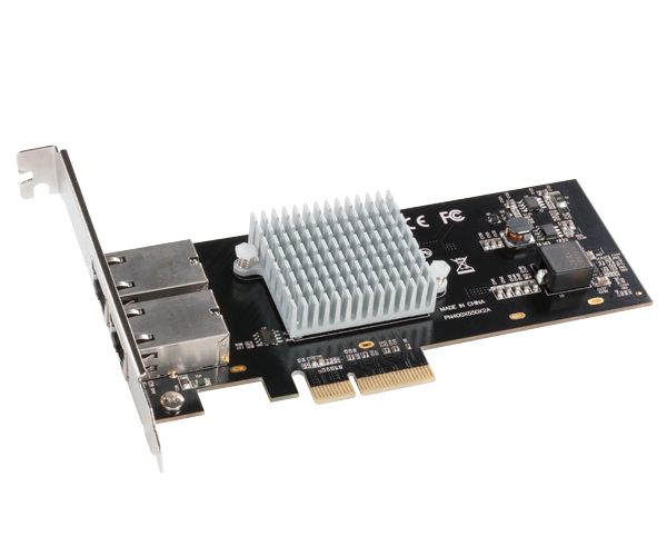 Presto 10GbE 10GBASE-T (Dual-port, 10GBASE-T 10GbE, x4 PCIe 3.0 card)